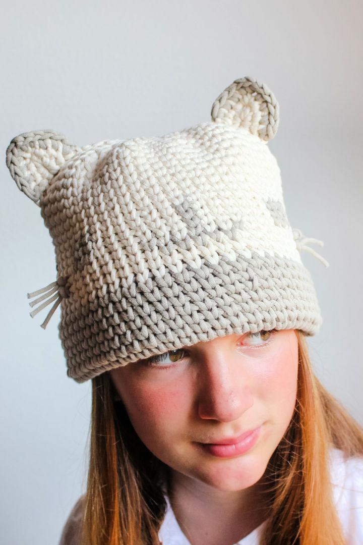 Kitty Cat Crochet Hat