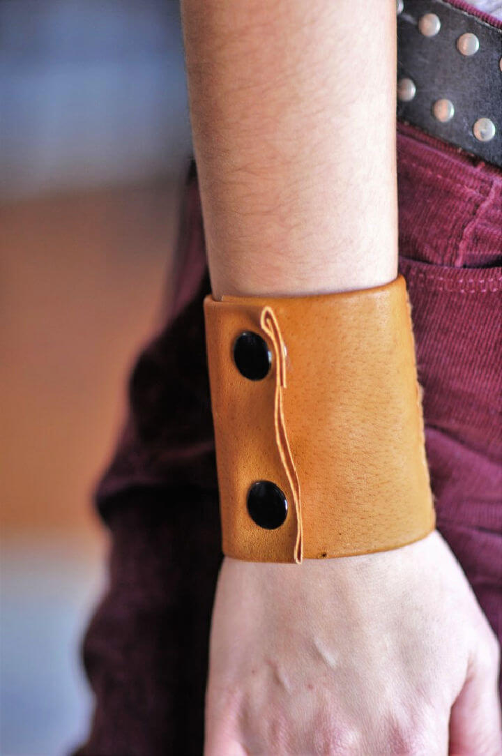 Leather Cuff with Secret Pocket