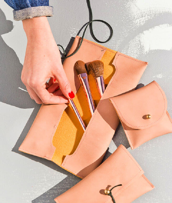Leather Makeup Pouches