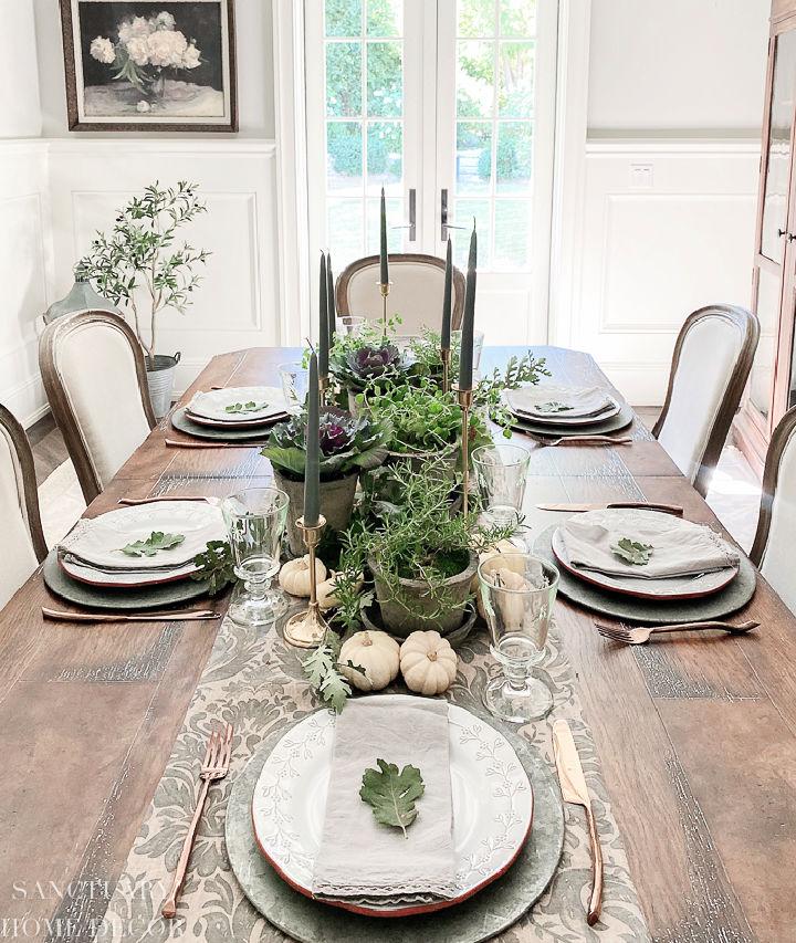 Living Herb Thanksgiving Centerpiece