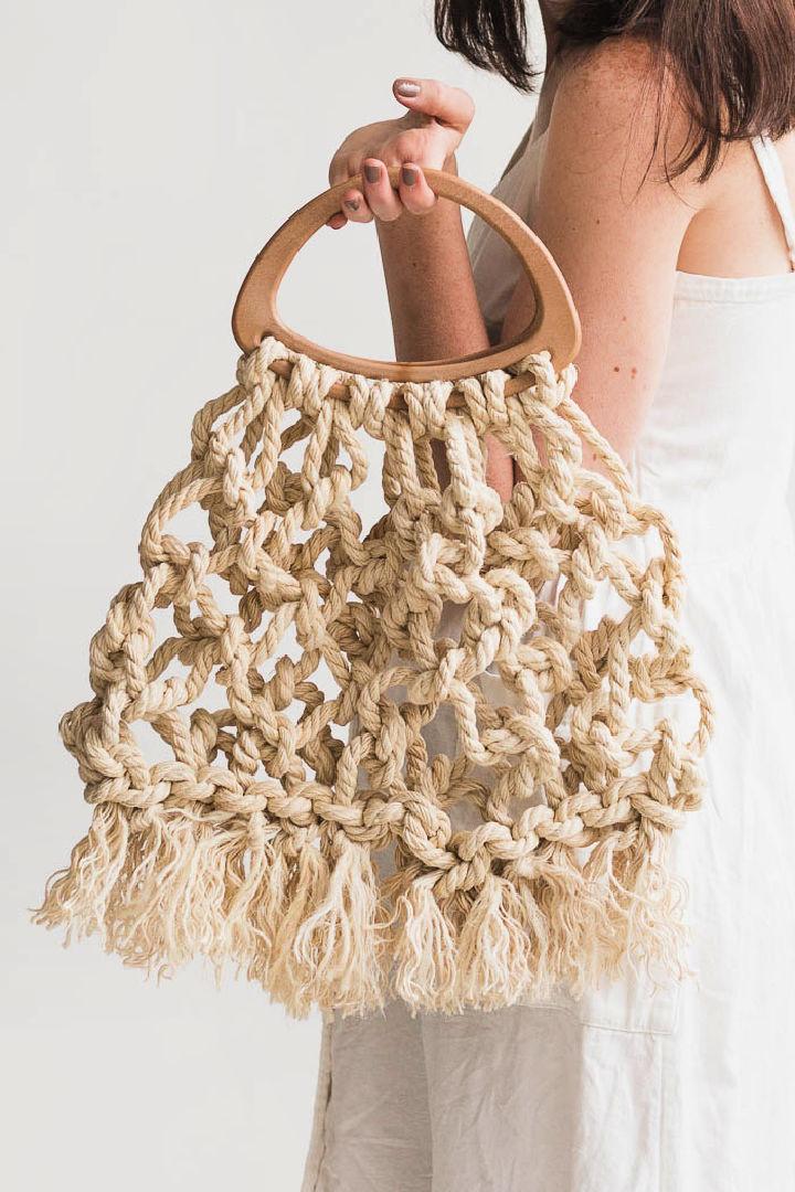 Macrame Tote Bag Using Jute