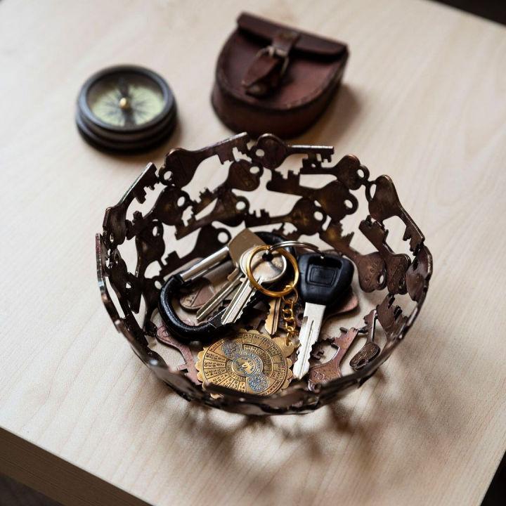 Make Bowl From Old Keys