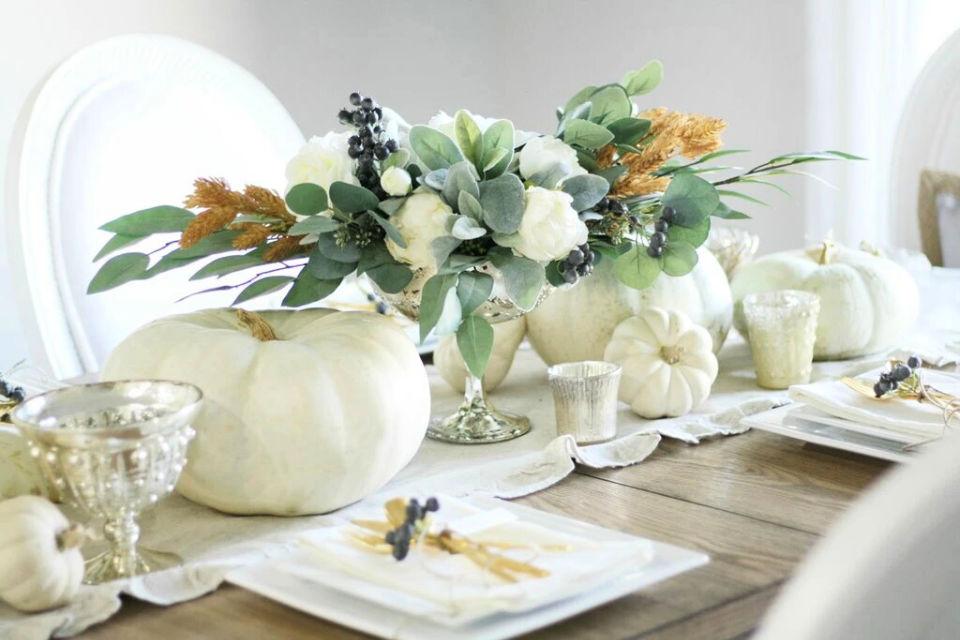 Making Thanksgiving Centerpiece