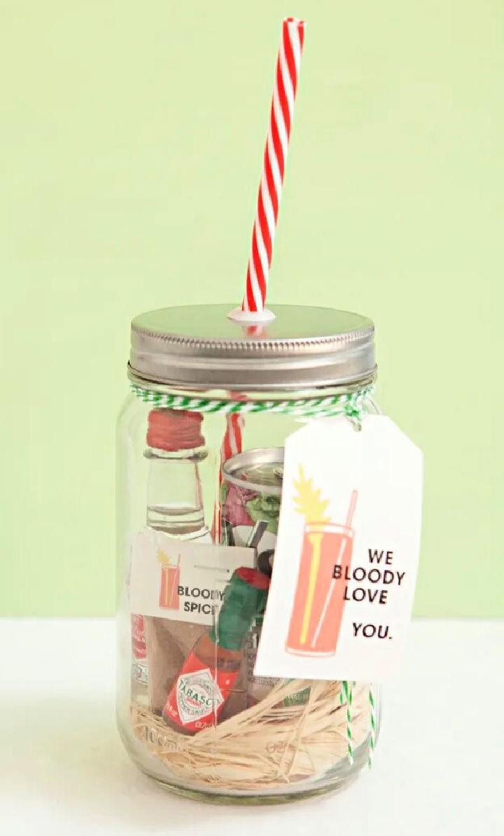 Mason Jar Bloody Mary Gift