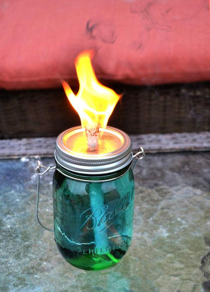 Mason Jar Citronella Torch