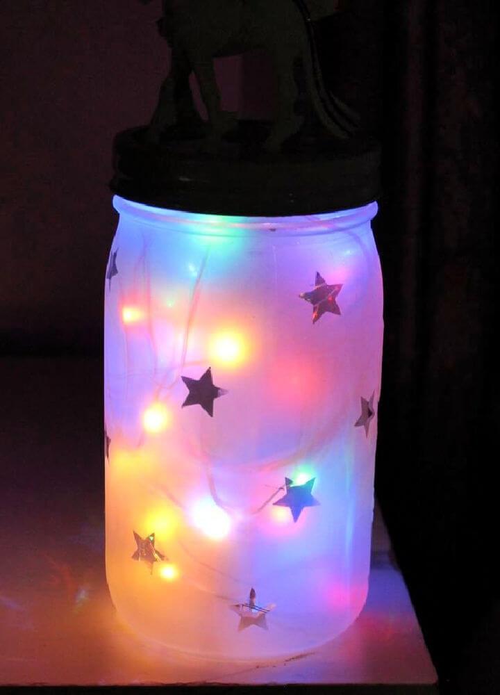 Mason Jar Night Light 1