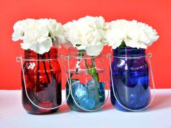 Mason Jar Patriotic Centerpiece