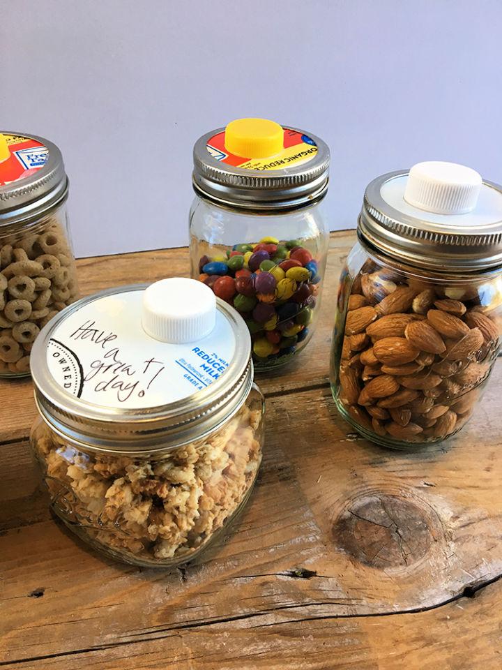Mason Jar Snack Storage Hack