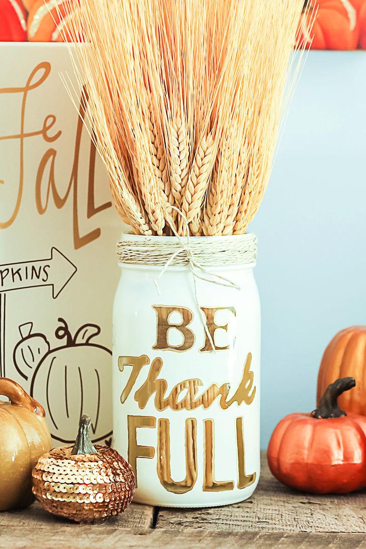 Mason Jar Thanksgiving Centerpiece