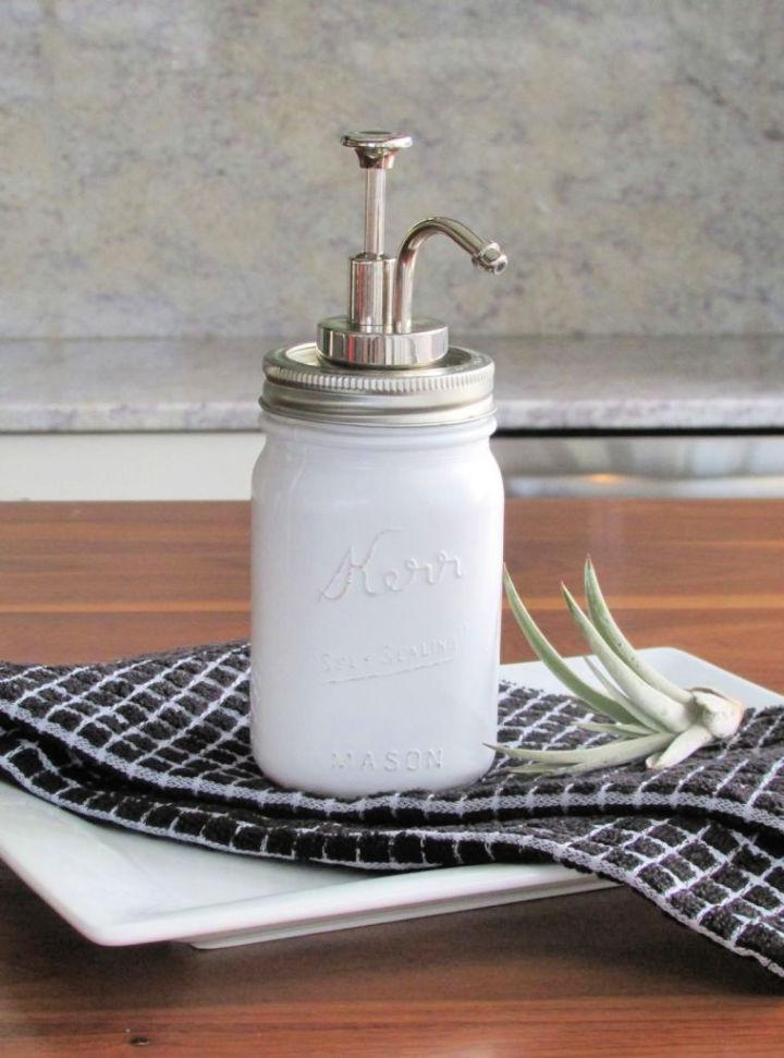 Milk Glass Soap Dispenser