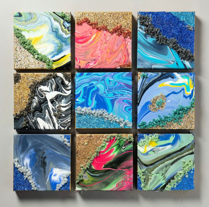 Mixed Media Faux Geode Canvas Art