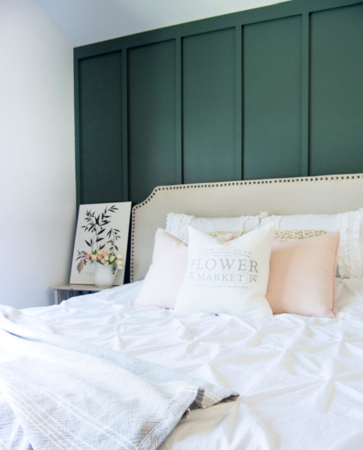 Modern Farmhouse Bedroom Accent Wall