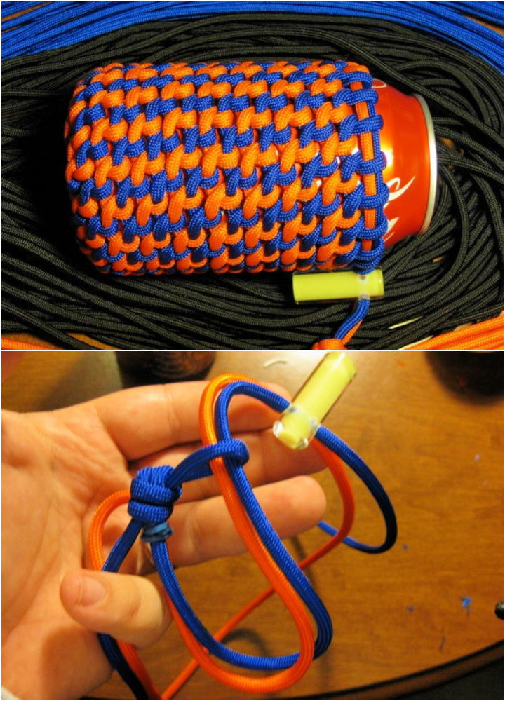 Multi Color Paracord Can Koozie