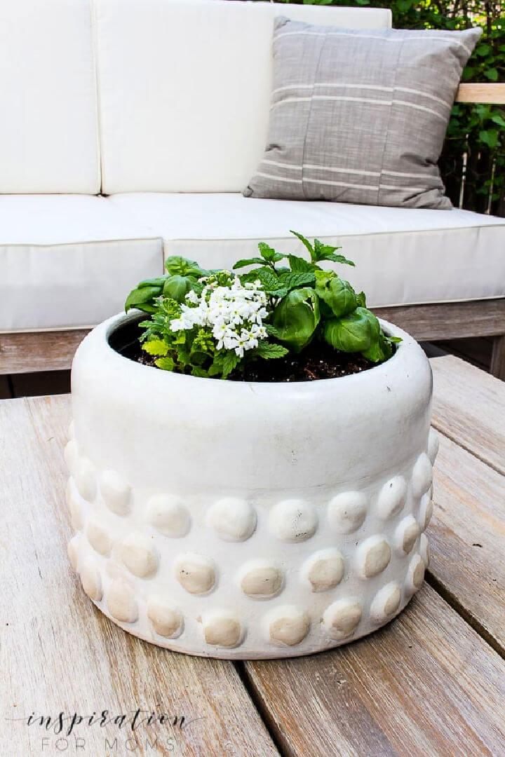 Outdoor Tabletop Herb Garden