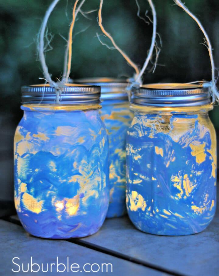 Painted Mason Jar Lanterns 1