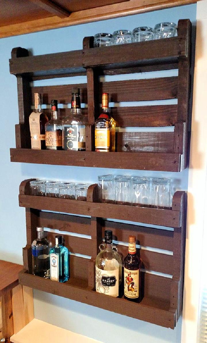 Pallet Liquor Shelf