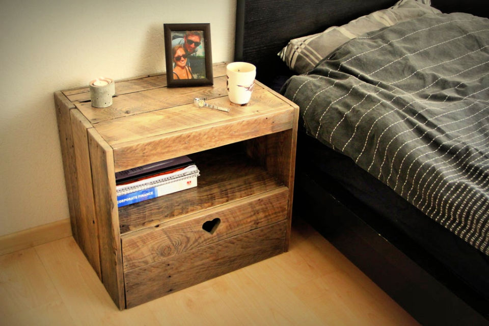 Pallet Nightstand or Side Table