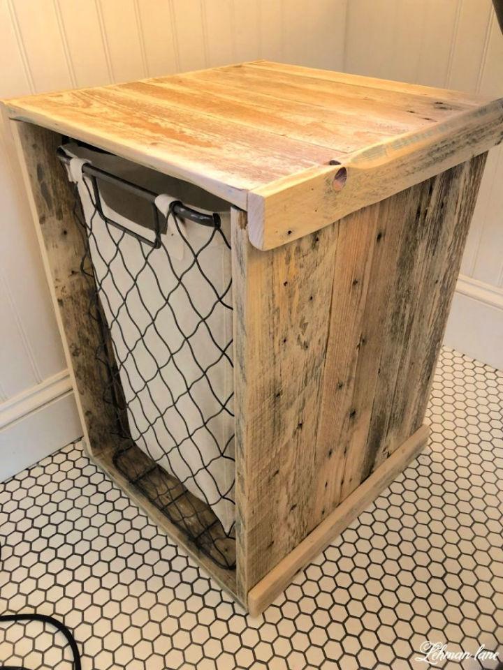 Pallet Shelf and Bathroom Hamper