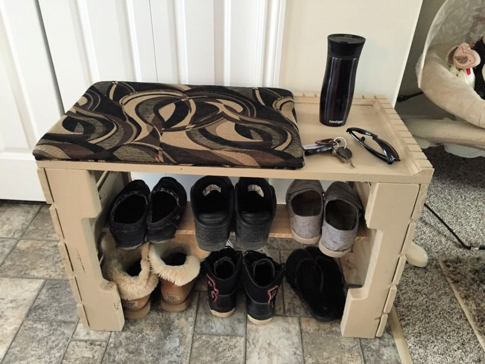 Pallet Shoe Shelf