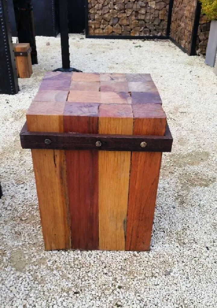 Pallets Outdoor Side Table