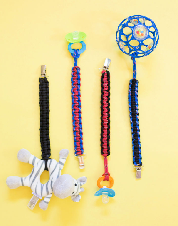 Paracord Baby Toy Clip
