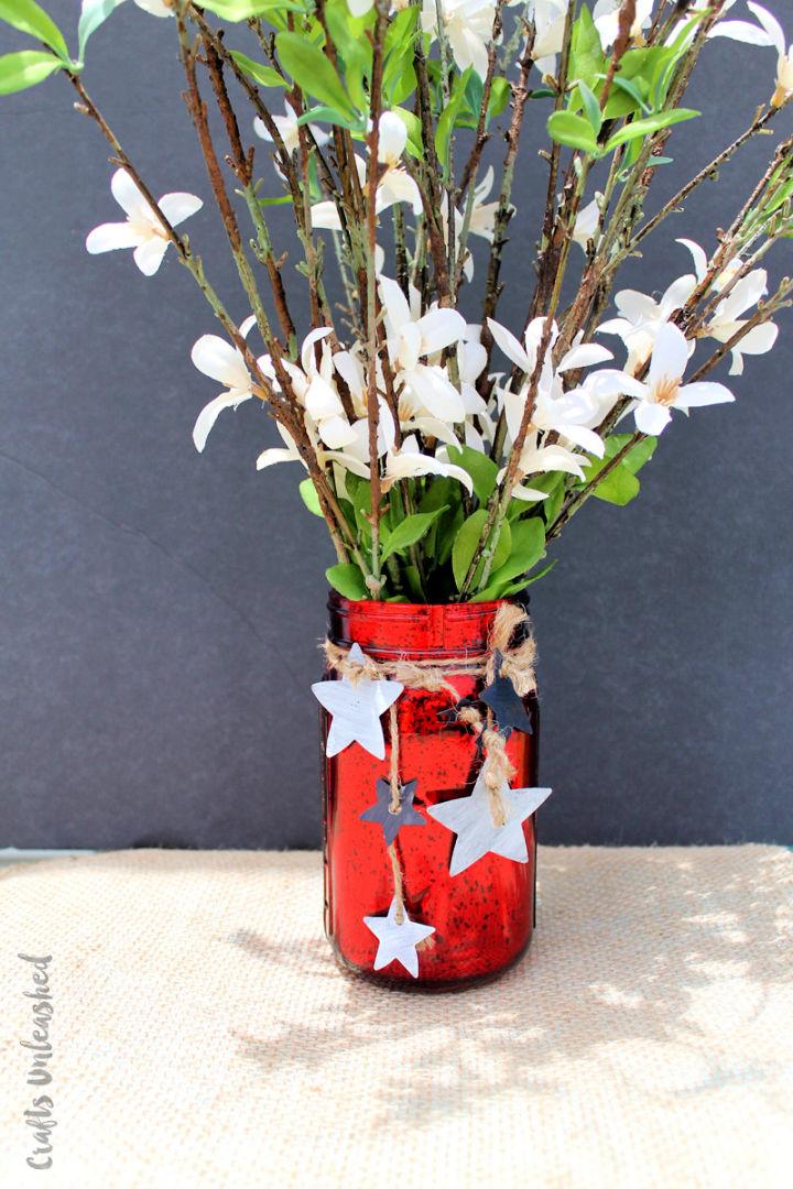 Patriotic DIY Mason Jar