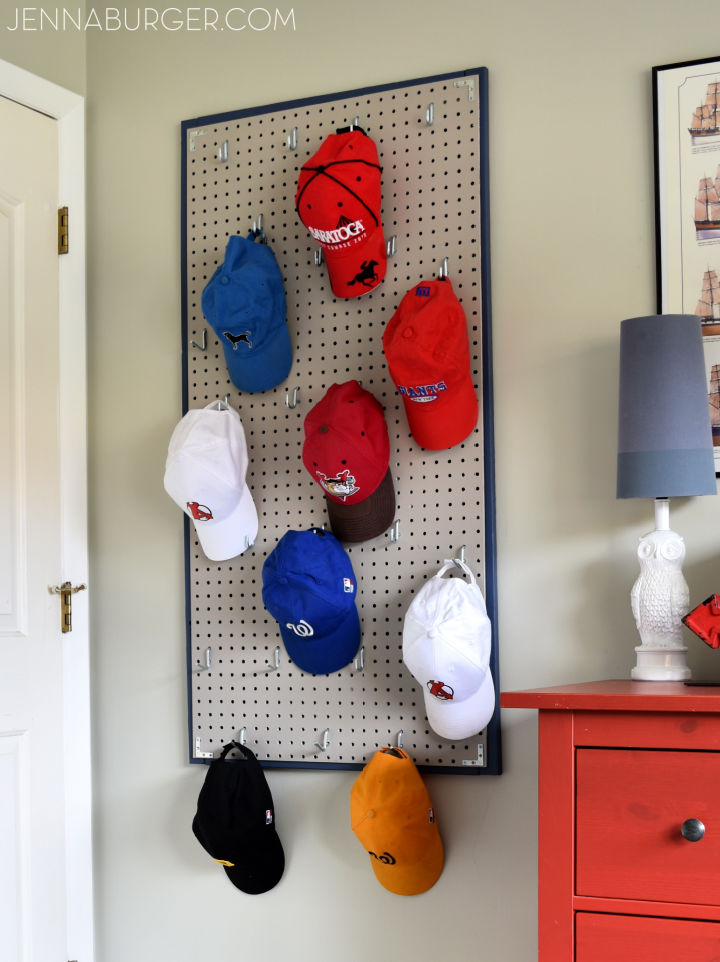 Pegboard Baseball Hat Rack