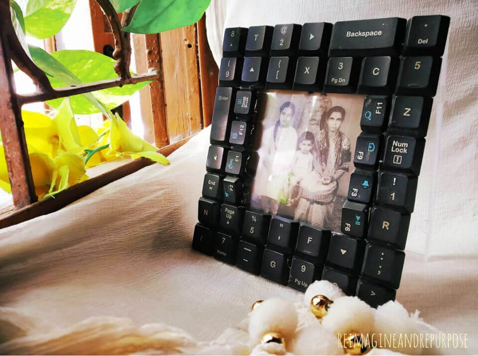 Picture Frame from Keyboard Keys