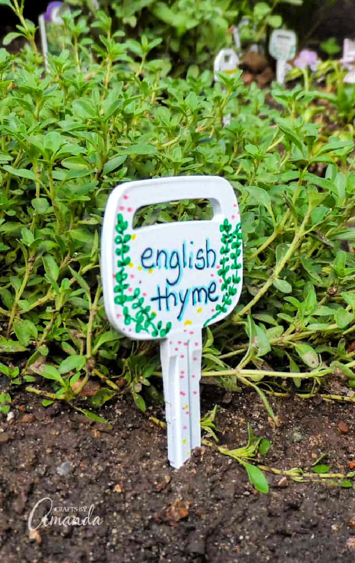 Plant Markers from Recycled Keys