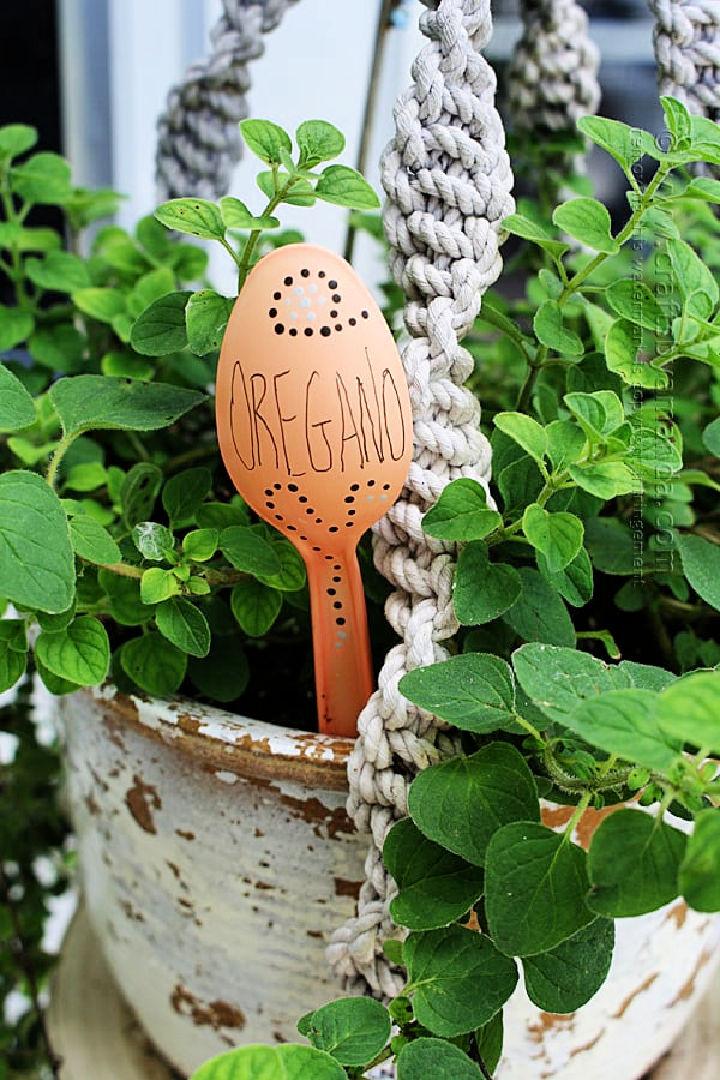 Plastic Spoon Plant Marker
