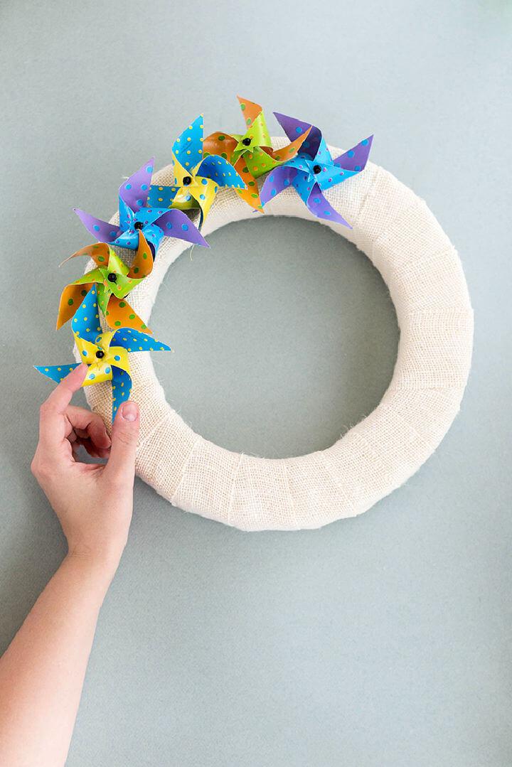 Polka Dot Pinwheel Wreath