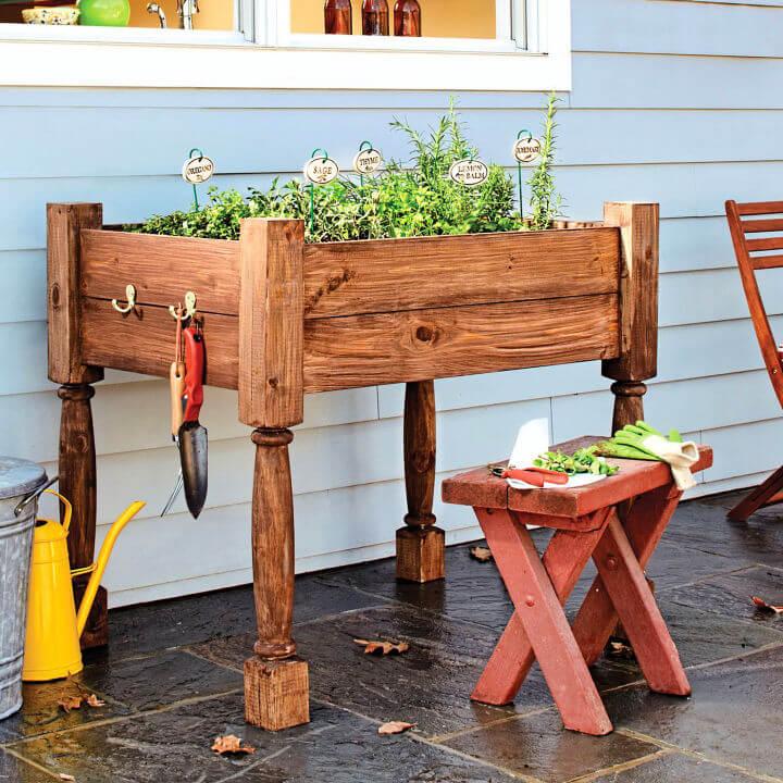 Raised Herb Garden Planter