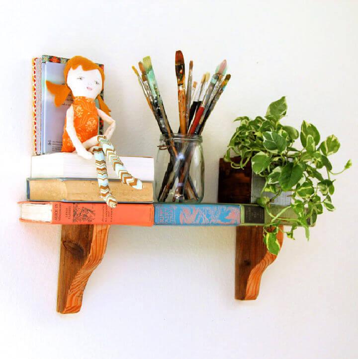 Repurpose Old Books Into Wall Shelf