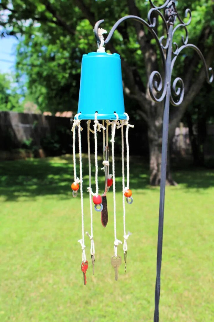 Repurposed Wind Chime with Old Keys