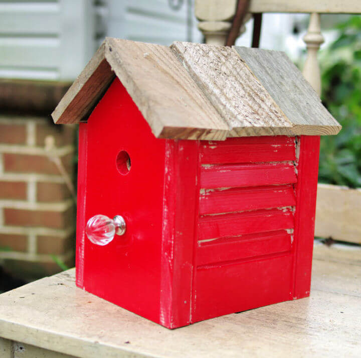 Rustic Birdhouse from Old Shutter