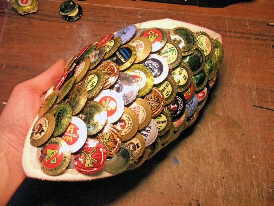 Scale Armor from Bottle Caps