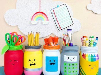 School Supplies Mason Jars