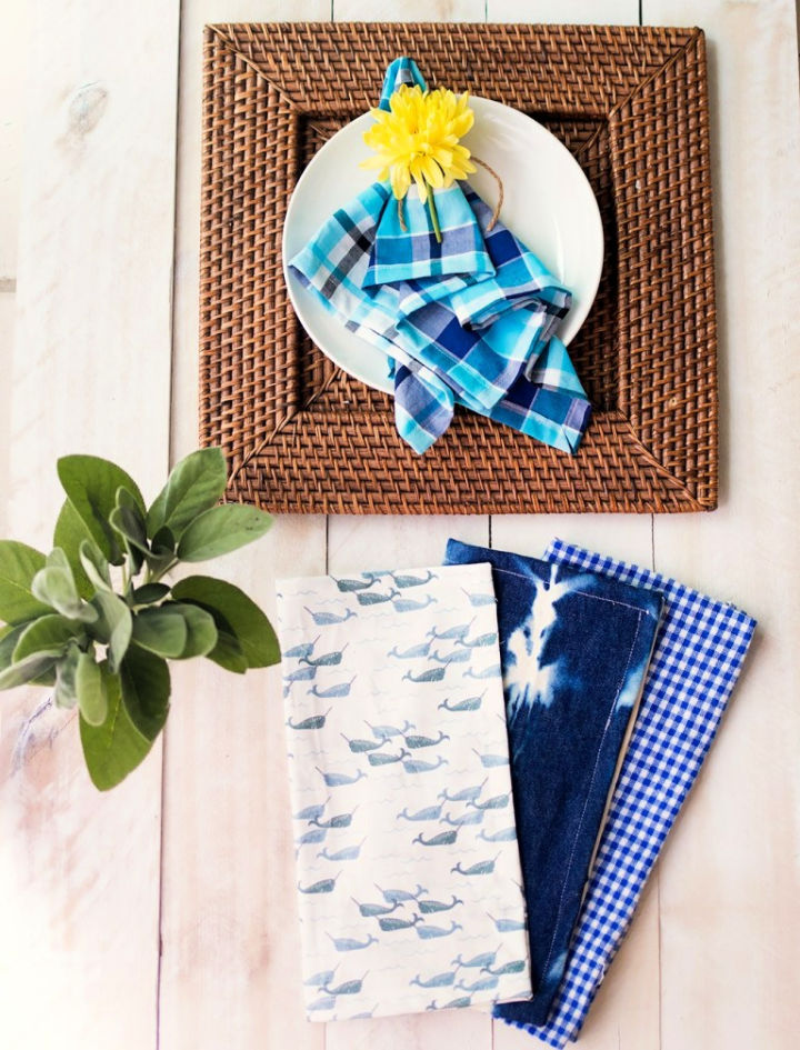 Sew a Cloth Napkins with Mitered Corners