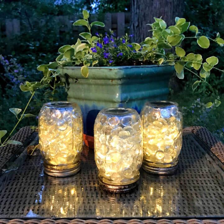 Solar Mason Jar Patio Lights