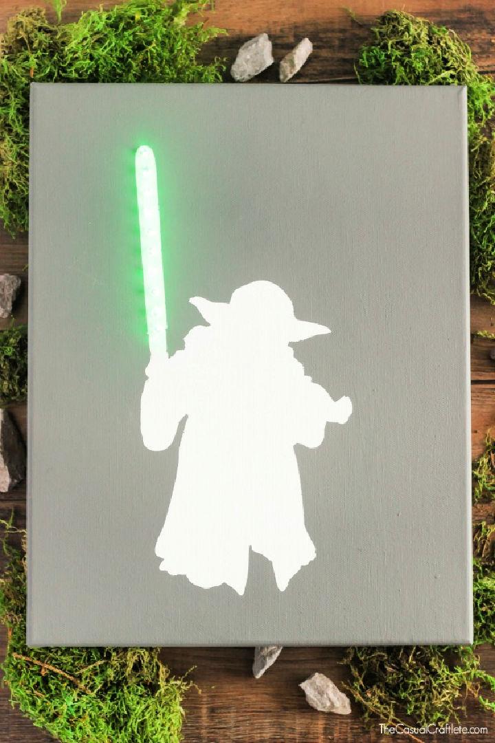 Star Wars Lighted Canvas Art