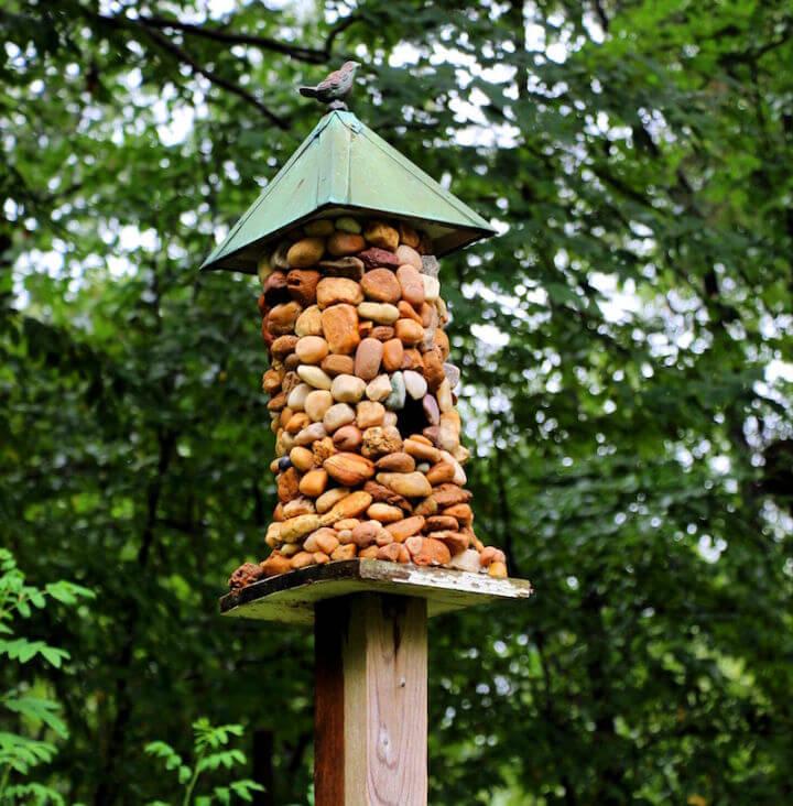 Stone covered Birdhouse