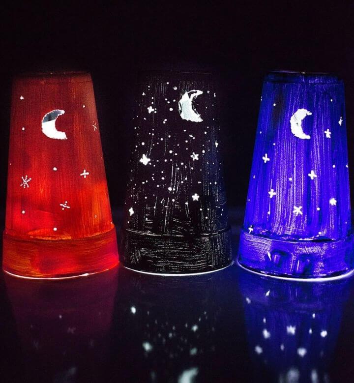 Styrofoam Cup Nightlights