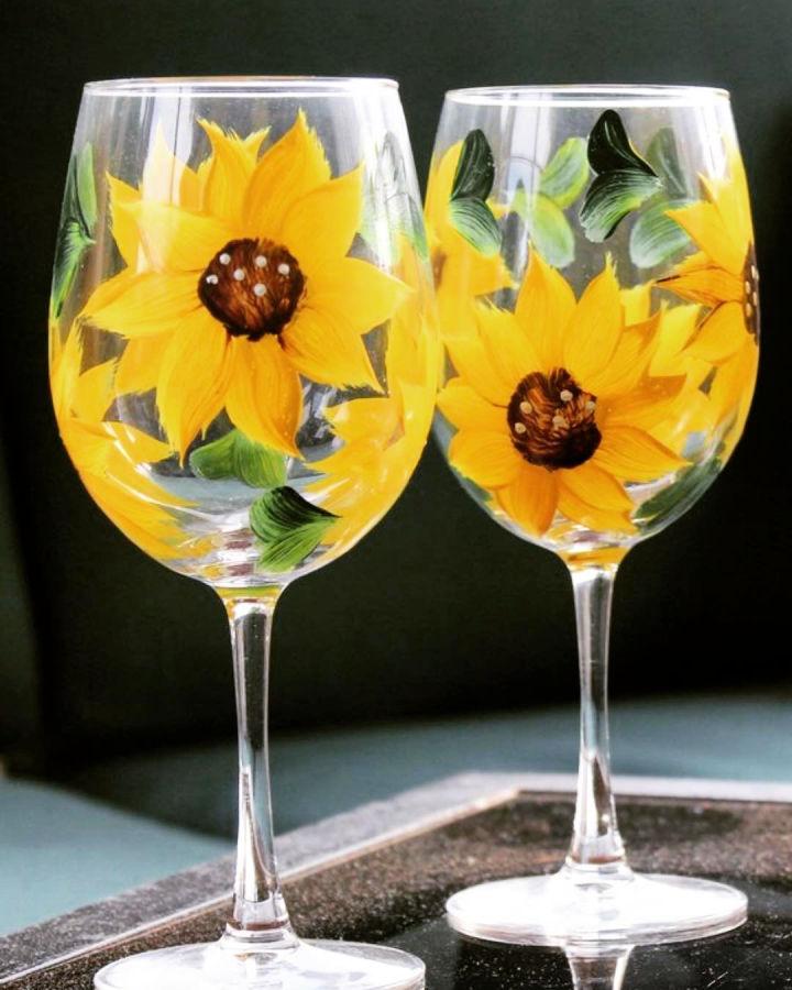 Sunflower Drinking Glasses