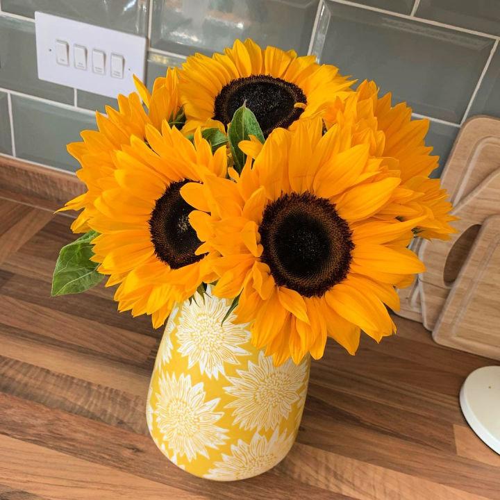 Sunflower Vase for Kitchen