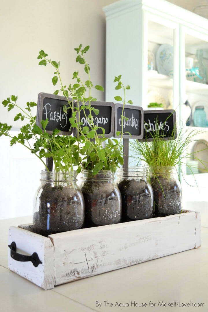 Table Top Herb Garden from Old Pallet
