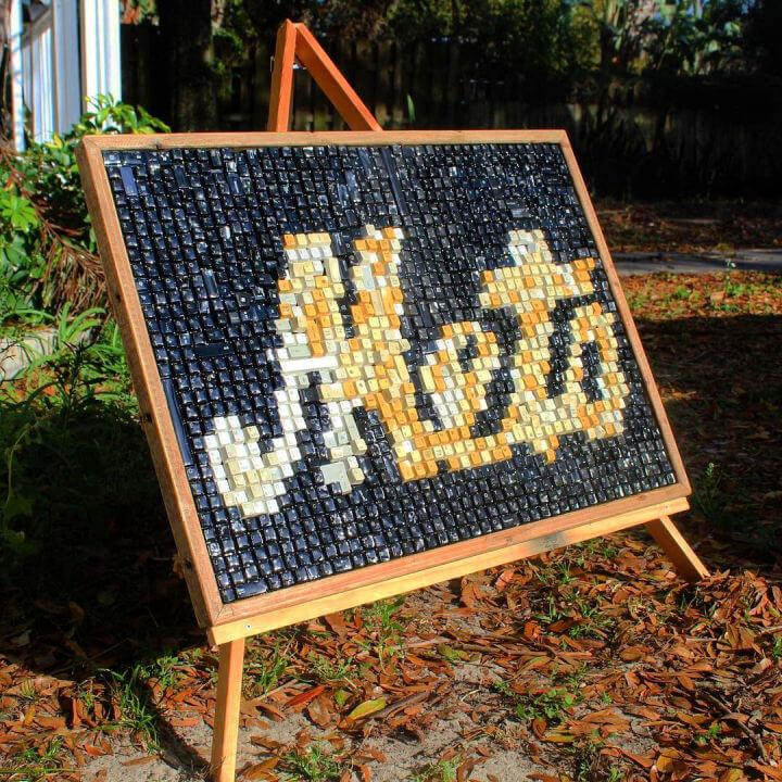 Tampa Art Using Keyboard Keys