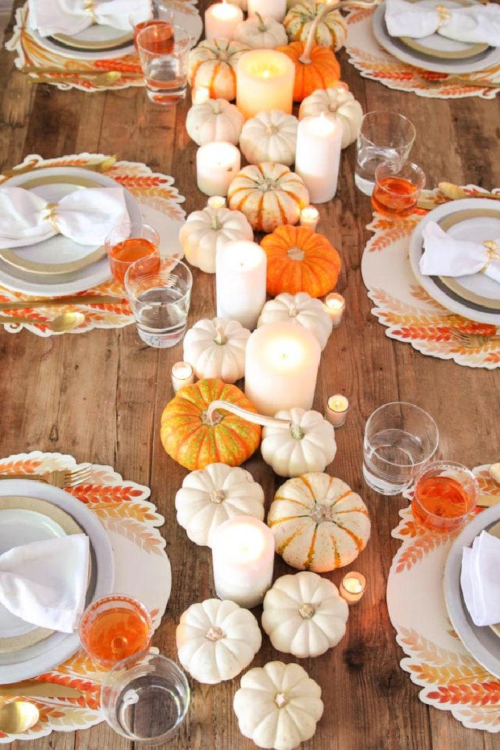 Thanksgiving Centerpiece with Pumpkins