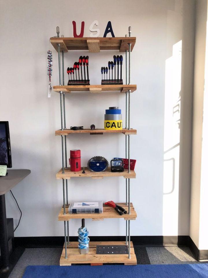 Threaded Rod Pallet Shelf