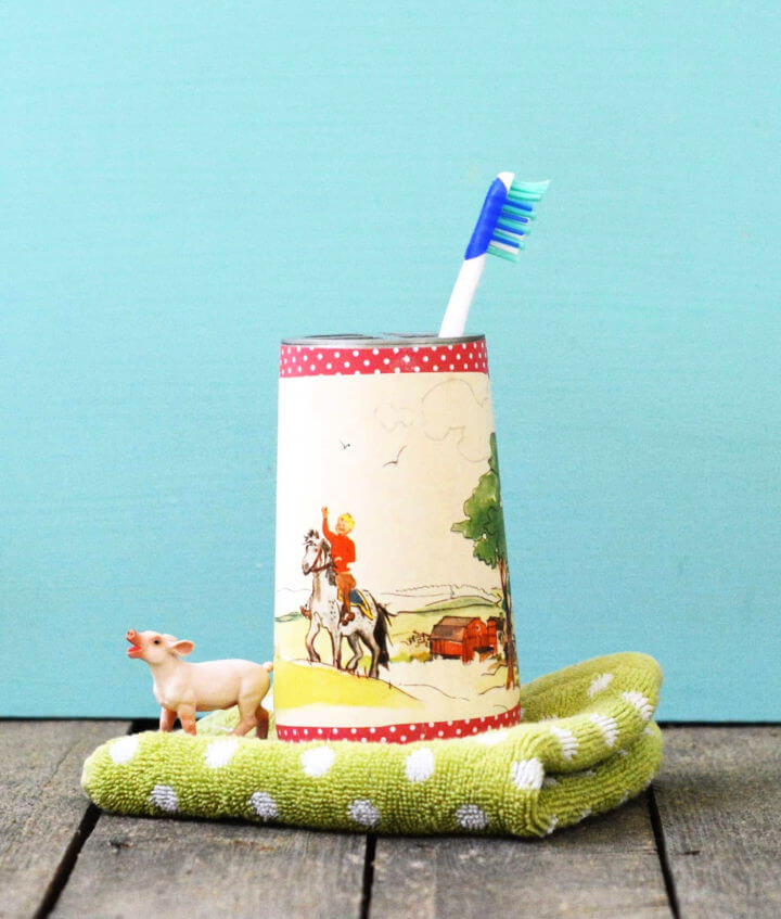Toothbrush Holder with Fabric