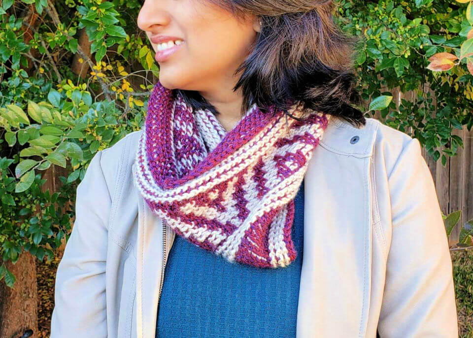 Tunisian Crochet Neck Warmer